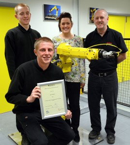 In recognition of FANUC's sustained commitment and loyalty to the apprenticeship....