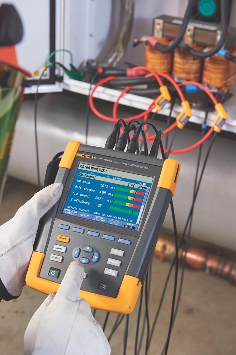M0417fl - Fluke 438-II Power Quality and Motor Analyzer