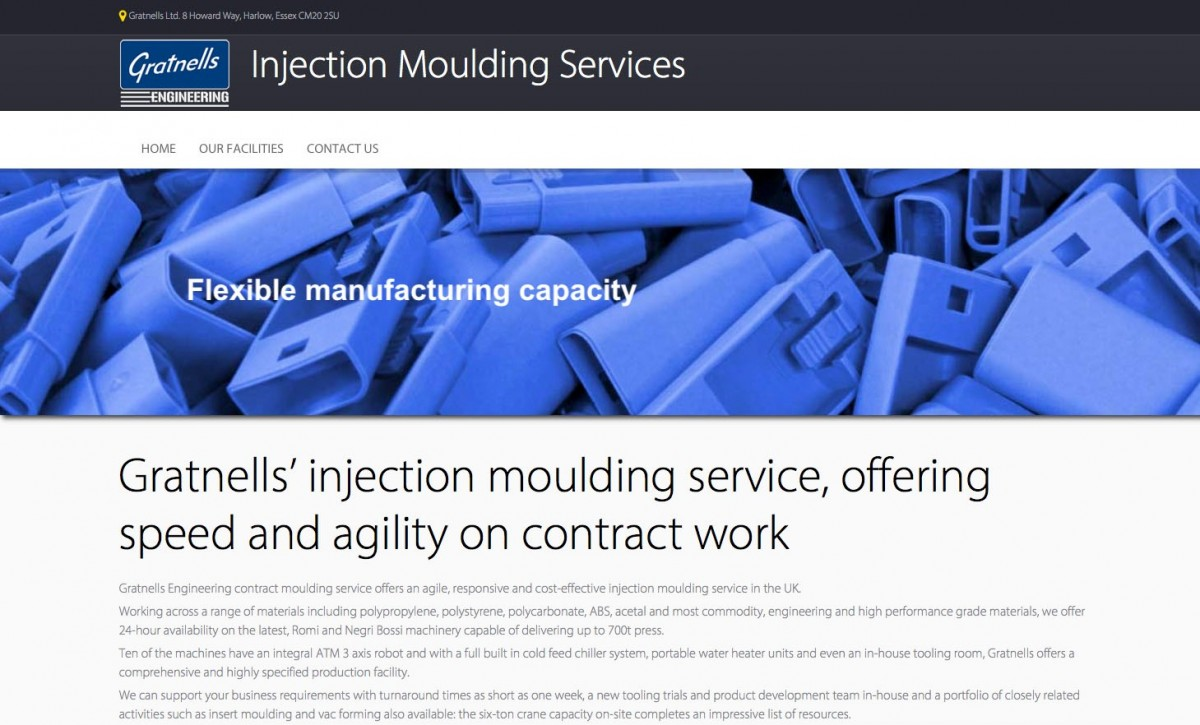 Gratnells Launches New Website For The Injection Moulding